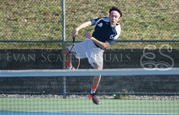 Mustangs Boys' Varsity Tennis - Apr. 16, 2016