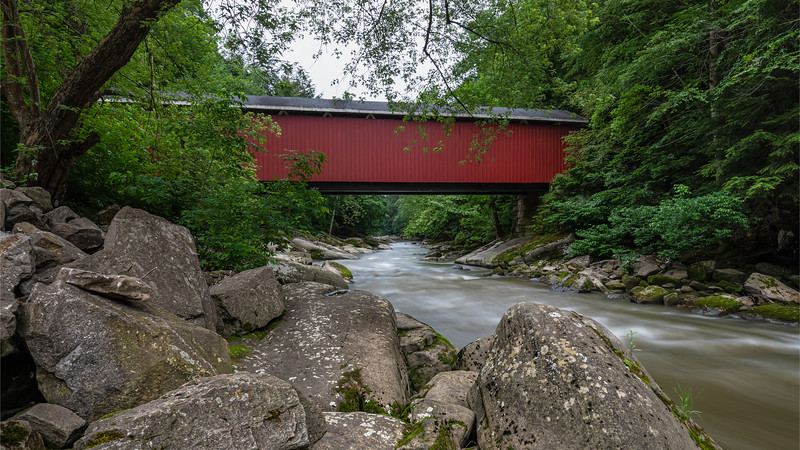 McConnells Mill Covered Bridge.