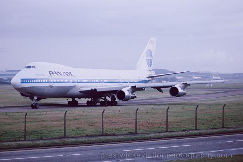 N743PA Boeing 747-121 Pan Am Prestwick November 1988