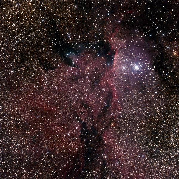 NGC6188 - Gum 53 - RCW108 - Rim Nebula in Ara - 20/06/2020 (Processed cropped stack)