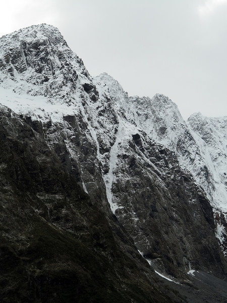 Conditions in Cirque Creek. Cul de Sac is the awesome obvious snow route.