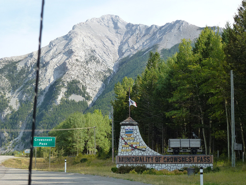 Entering Crows Nest Pass in British Columbia