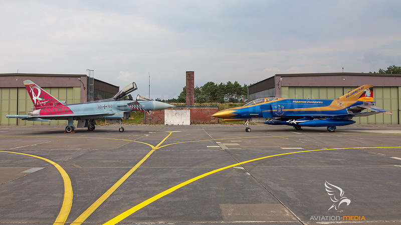 Germany - Air Force / Eurofighter Typhoon EF2000 and McDonnell Douglas F-4F Phantom II / 30+90 and 37+01