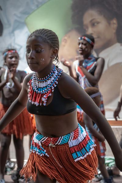 Street dancing in Cape Town