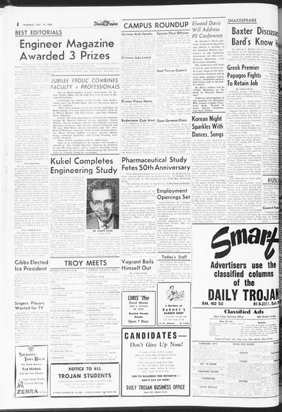 Daily Trojan, Vol. 47, No. 20, October 13, 1955