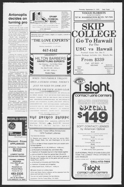 Daily Trojan, Vol. 75, No. 4, September 21, 1978