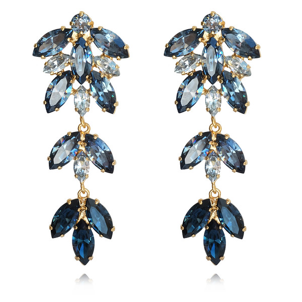 Nyx Earrings / Denim Blue + Blue Shade / Gold