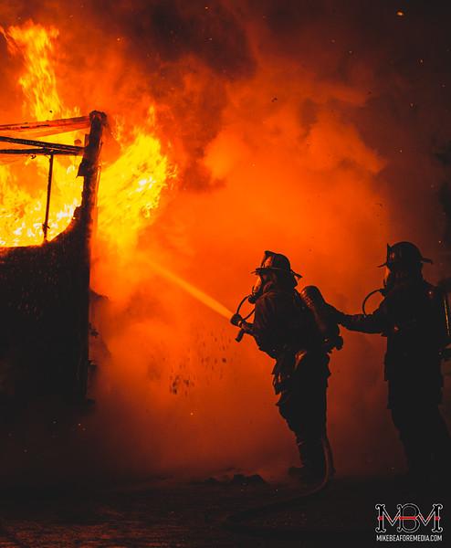 Detroit MI, Camper Fire 1-20-2021