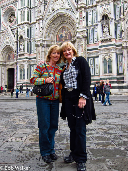 Denise Schlitt and Michele. Denise and Mike were our Florence tour guides