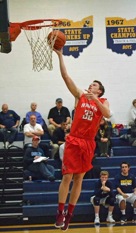 . Paul DiCicco - The News-Herald Hawken�s Michael Snyder lays in a shot early in the game.