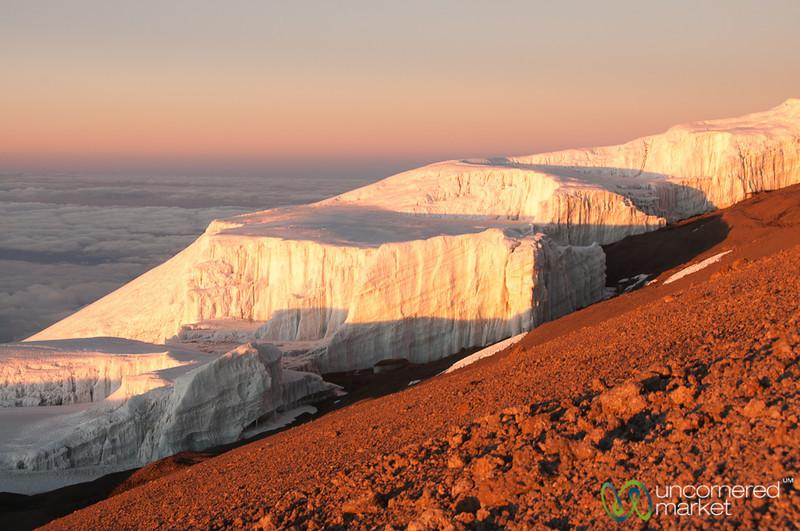 Glaciers at Dawn at the Top of Mt. Kilimanjaro, Tanzania