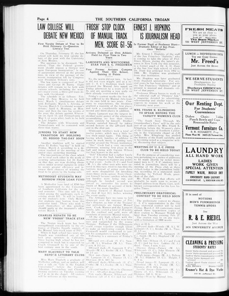The Southern California Trojan, Vol. 8, No. 66, February 13, 1917