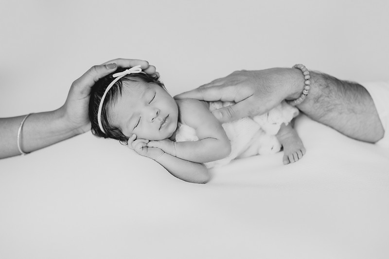 Newborn at home with Props