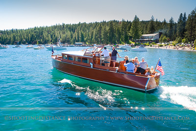The Saga motors away from the Marina at Sierra Boat Company, 2011 Tahoe Concours D'Elegance