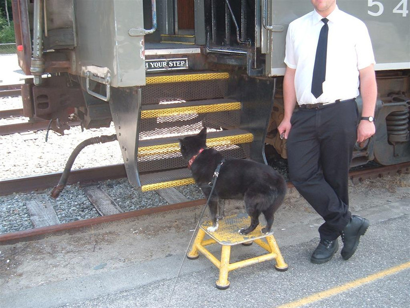 Reagan boards train for inspection at Lake Placid     August 2012