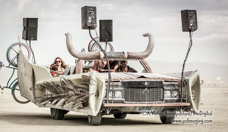 An art car with a killer sound system. . .