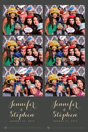 Jennifer and Stephen's Wedding Photobooth Prints