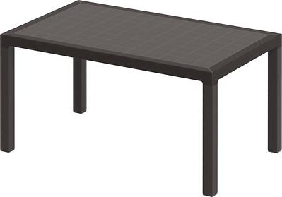 Woodgrain Dining Table - 6 Seater
