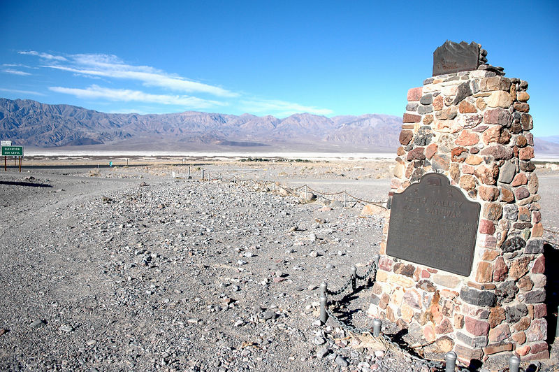Death Valley marker