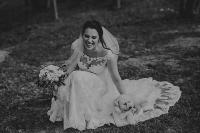 A Bride and Her Dog; Bridal Portraits at Big Sky Barn - Houston Wedding Photographer