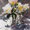 Cream Peonies and Silver