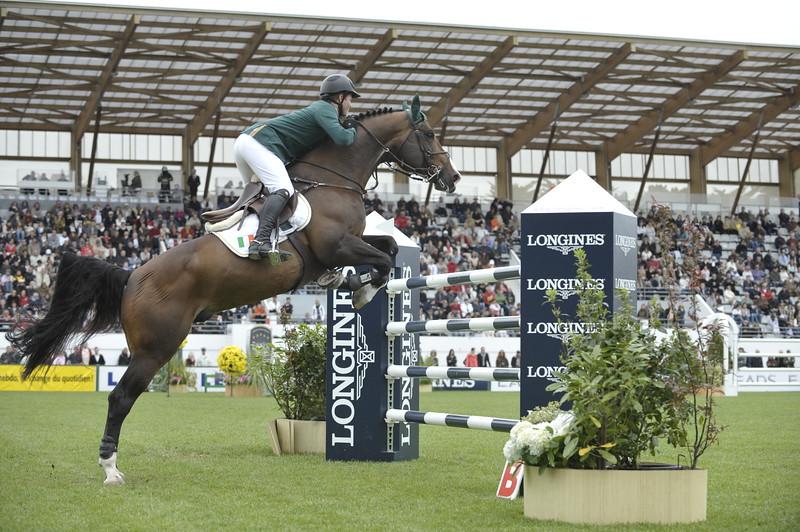 JUMPING : Shane SWEETNAM sur Amaretto Darco COUPE DES NATIONS 2012 -  CSIO DE LA BAULE 2012 - PHOTO : © CHRISTOPHE BRICOT