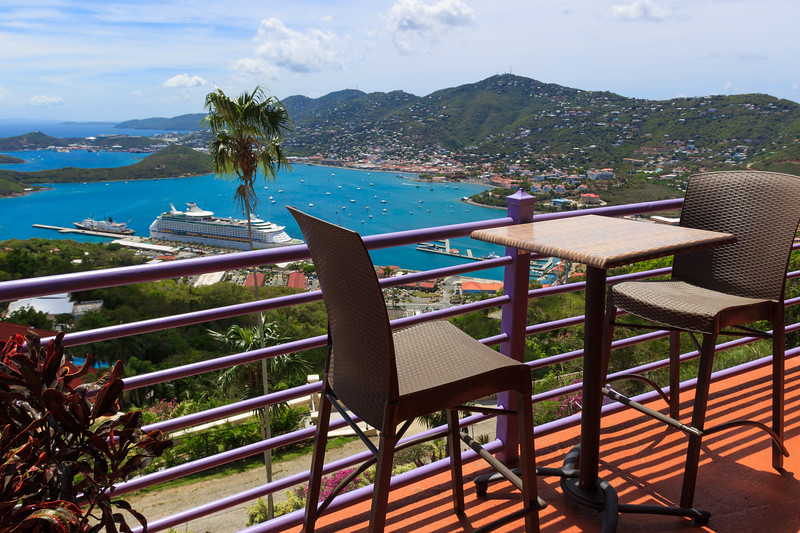 St. Thomas harbor from the bar place on Paradise Point