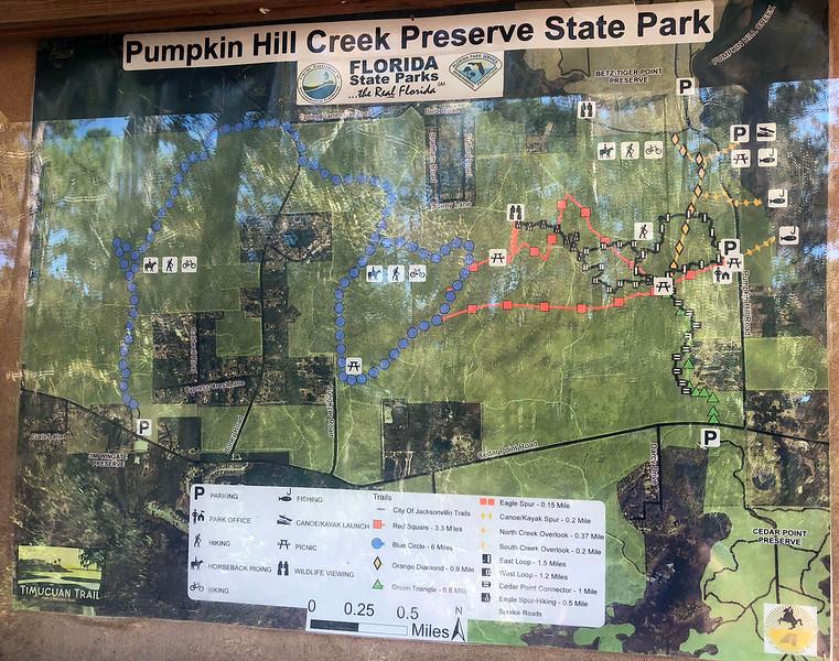 Pumpkin Hill Creek Preserve Trail Map