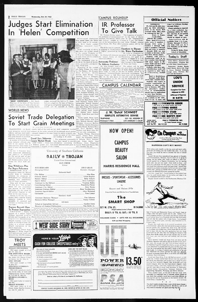 Daily Trojan, Vol. 55, No. 23, October 23, 1963