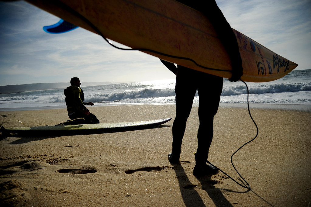 . Hawaii # 1.  Hawaiian surfer Garrett McNamara looks at the ocean before his surf session at Praia do Norte in Nazare on January 29, 2013.PATRICIA DE MELO MOREIRA/AFP/Getty Images