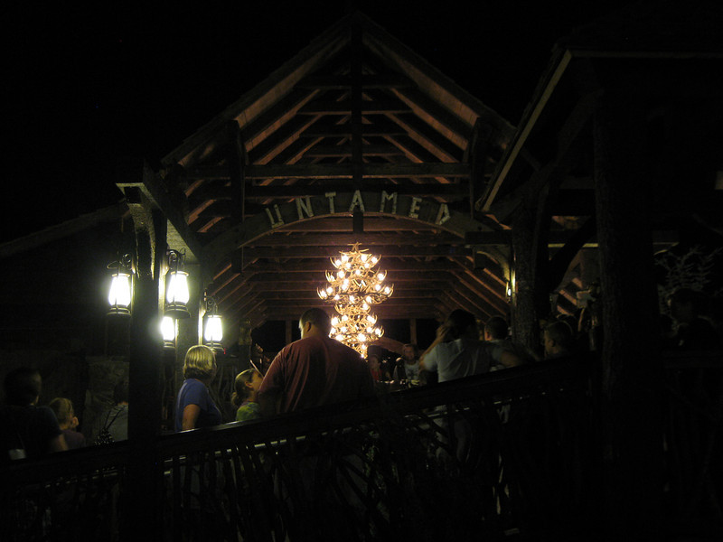The Untamed station at night.
