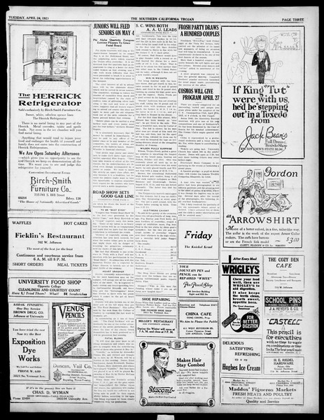 The Southern California Trojan, Vol. 14, No. 82, April 24, 1923