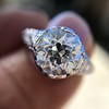 2.23ct Old European Cut Diamond Edwardian Solitaire GIA I VS1 9