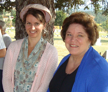 Kaija Swisher (left) and Hoodie Smock (right) did excellent portrayals of two early Spearfish ladies -- Angela Matthews (1914-2008) and Martha Esling (1879-1960) respectively.