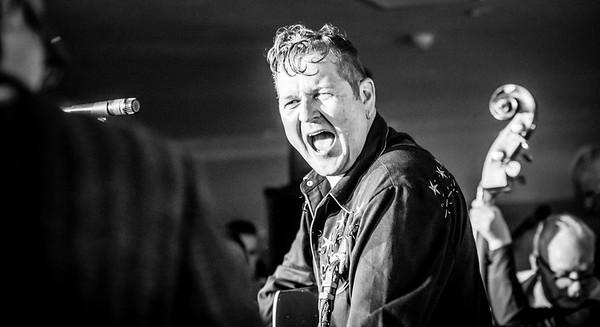 The Rimshots B&W Welsh Rockabilly Fair 2017
