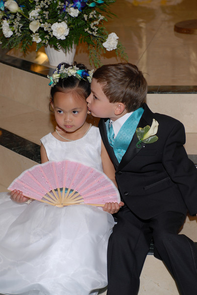 "While Mike and Jill were taking their ""formals"" I got the flower-girl and ring bearer to pose for a few shots.  They actually stole the show for a little while."