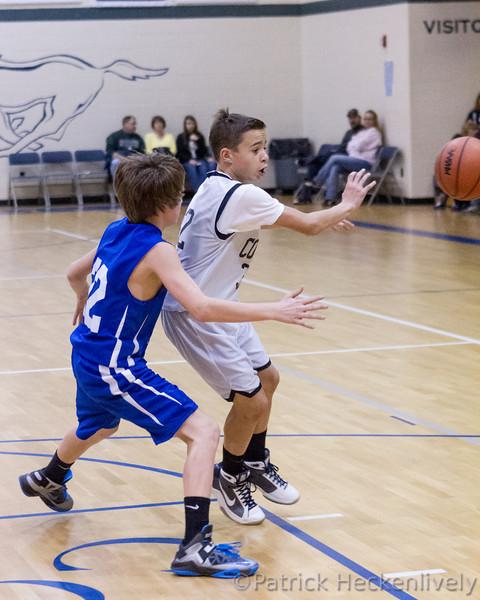 2012-12-18 Hillsdale Academy Boy's Junior High Basketball vs. Pittsford