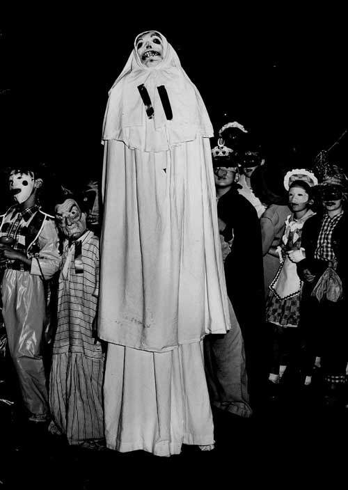. 1952: A tall ghost concealing two boys reportedly walked the entire mile-long route of the Willow Glen parade. (San Jose Mercury)