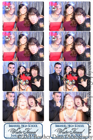 Immanuel High School Winter Formal - The Photo Booth Strips