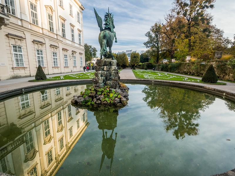 Winged Horse in the Mirabell Gardens, Salzburg, Austria