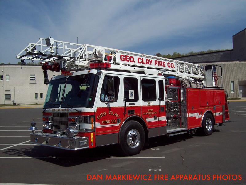 GEORGE CLAY FIRE CO. FORMER QUINT 39 1993 SIMON DUPLEX/LTI AERIAL LADDER QUINT