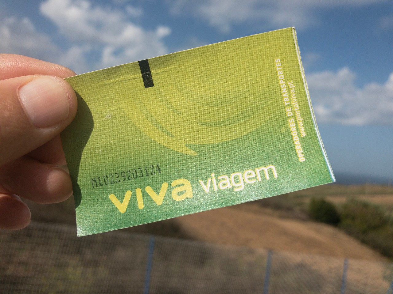 Lisbon Metro Viva Viagem Card