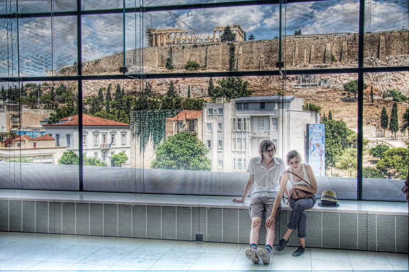 The New Parthenon Museum showcases the Parthenon inside and out. (HDR)