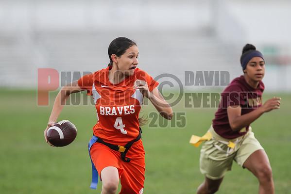 Wekiva Mustangs @ Boone Braves Girls Varsity Flag Football - 2015