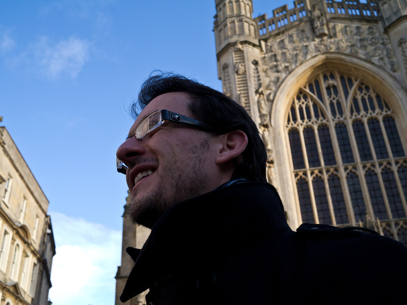 Phil infront of the Abbey
