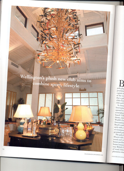 Palm Beach life issue about interior design on The International Polo Club Palm Beach.