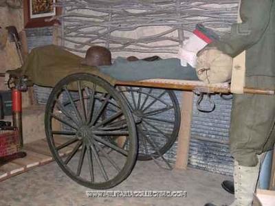 WW1 WOODEN WHEELED LITTER CARRIER