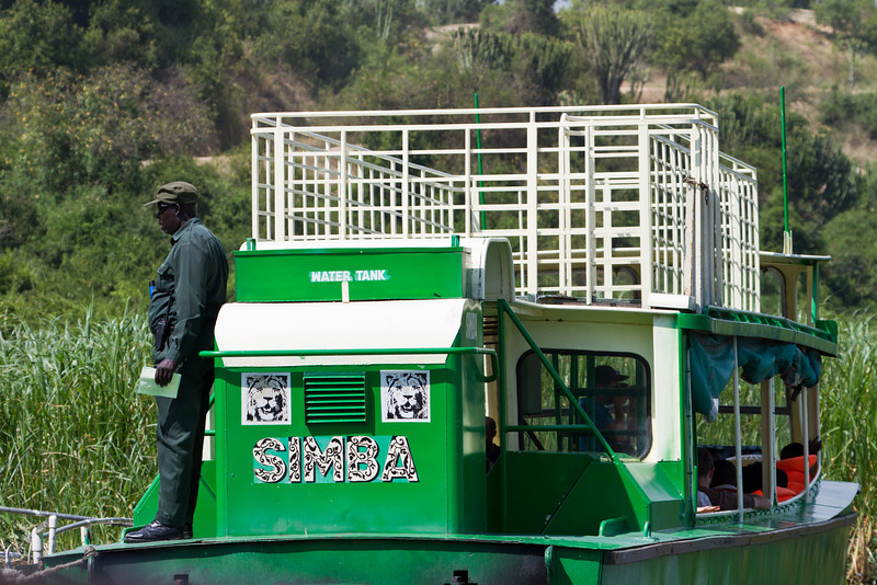 Kazinga channel boat
