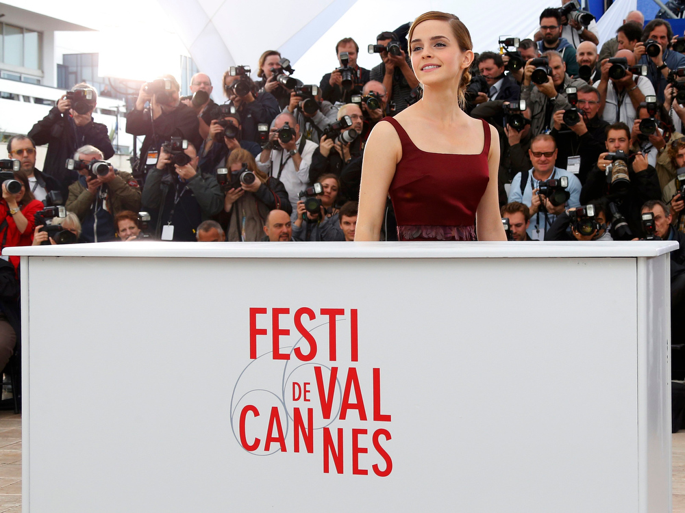. Cast member Emma Watson poses during a photocall for the film \'The Bling Ring\' during the 66th Cannes Film Festival in Cannes May 16, 2013.       REUTERS/Yves Herman