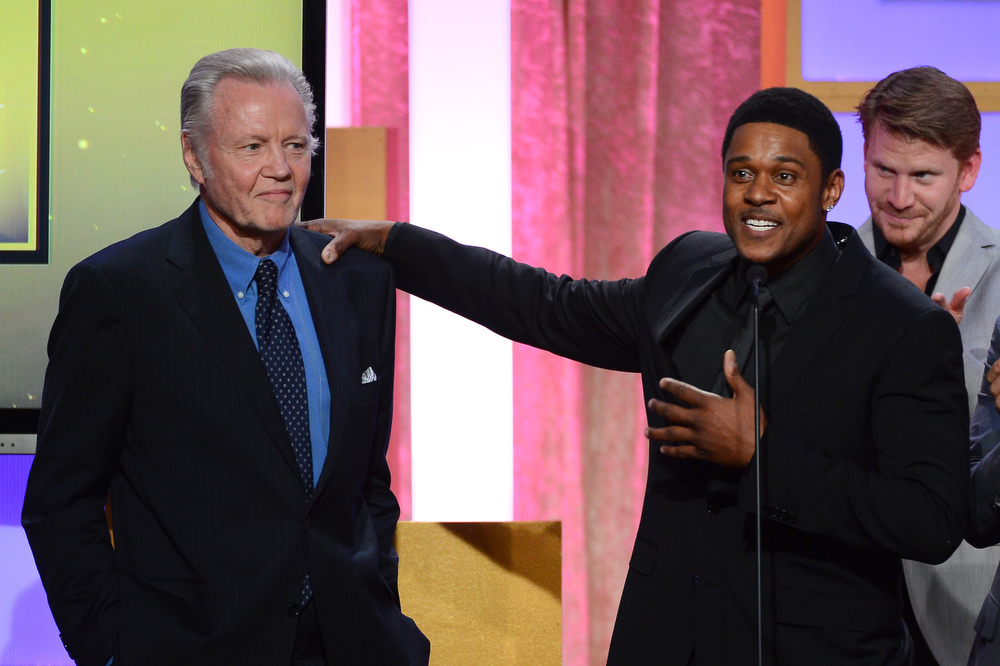 . Actors Jon Voight, Pooch Hall and Dash Mihok speak onstage during Broadcast Television Journalists Association\'s third annual Critics\' Choice Television Awards at The Beverly Hilton Hotel on June 10, 2013 in Los Angeles, California.  (Photo by Mark Davis/Getty Images for CCTA)